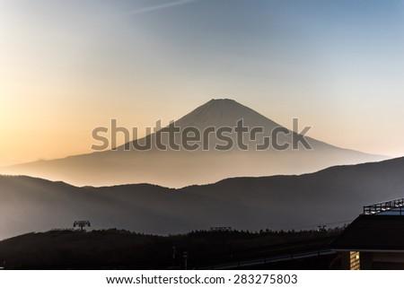 MT Fuji. Fujisan mountain view on Owakudani in japan  - stock photo
