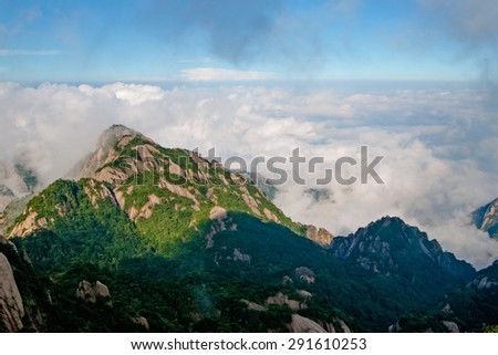 Mt. Huangshan in Anhui, China. - stock photo