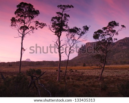 Mt Oakleigh in Tasmania - stock photo