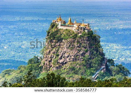 Mt. Popa, Mandalay Division, Myanmar. - stock photo
