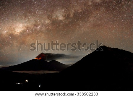 Mt Raung eruption July 2015, Java, Indonesia - stock photo