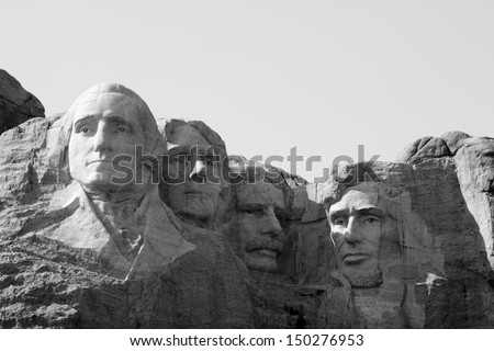 Mt. Rushmore National Monument, South Dakota. - stock photo