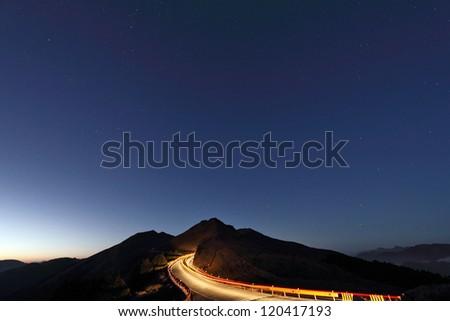 MT. Shimen ,  Hehuan Mountain, Taiwan - stock photo