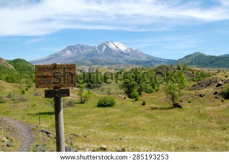 Mt. St. Helens Hummocks Trail - stock photo