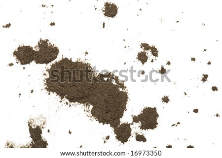 Mud splat pattern isolated on a white background - stock photo