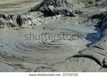Mud volcano in Azerbaijan - stock photo