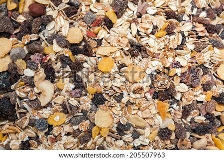 Muesli background texture - stock photo