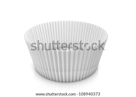 Muffin paper forms - stock photo