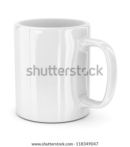 Mug - isolated on white background - stock photo