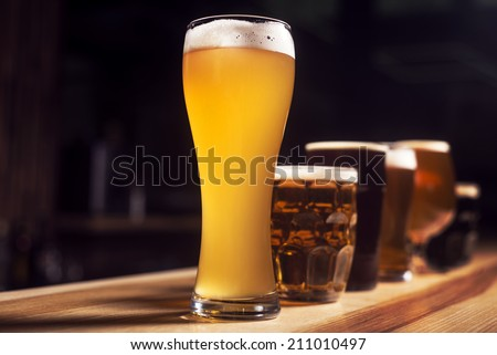 Mug of beer - stock photo