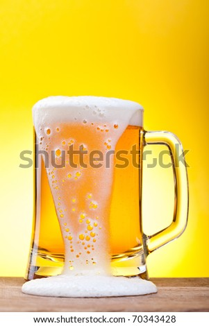 Mug with beer - stock photo