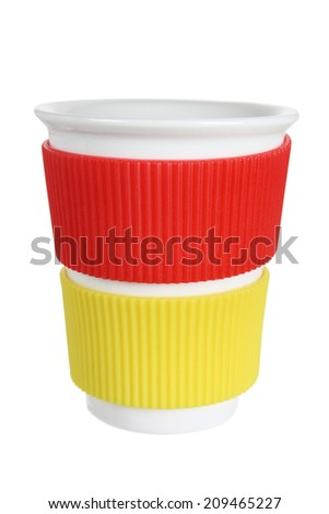 Mug with White Background - stock photo
