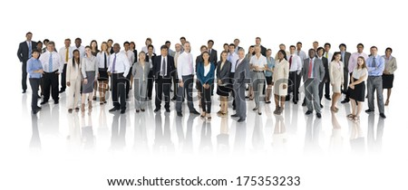 Mullti-ethnic Group of Business People - stock photo