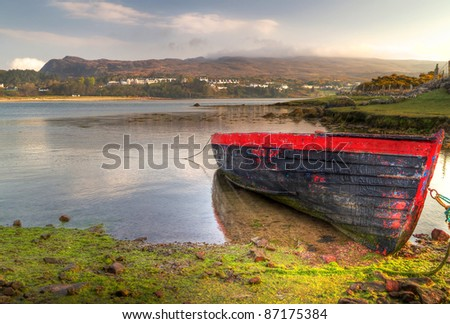 Mulranny bay at sunrise, Co. Mayo, Ireland - stock photo