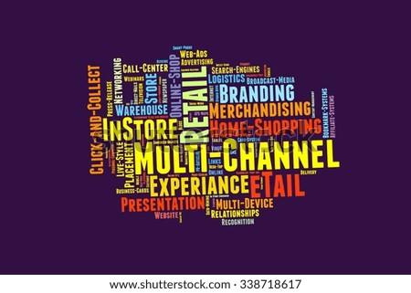 Multi Channel Word Cloud - stock photo