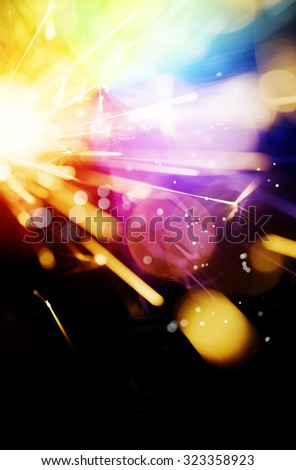Multi-colored abstract sparkler background - stock photo