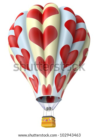 Multi-colored balloon for flight in air isolated 3d - stock photo