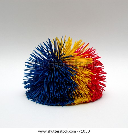 Multi-Colored Koosh Ball - stock photo