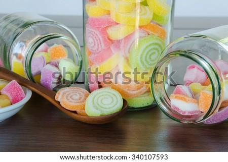 Multi colour Candies for child - stock photo