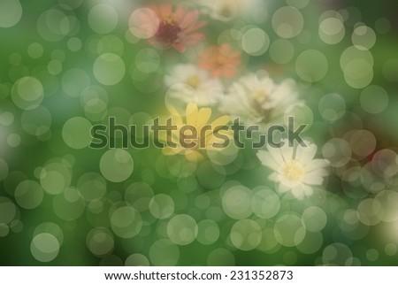 Multi-coloured spotty background for design - stock photo