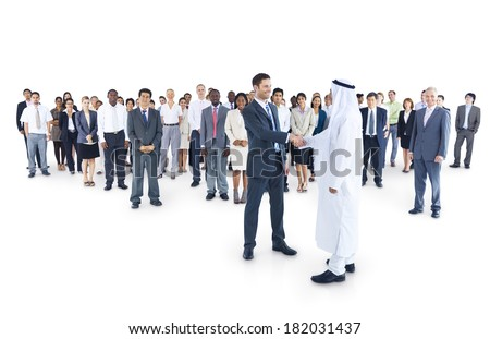 Multi-ethnic and Diverse Business People Shaking Hands - stock photo