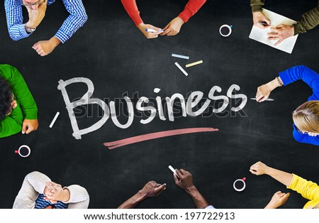 Multi-Ethnic Group of People and Business Concept - stock photo