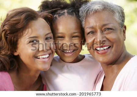 Multi-generation  family portrait - stock photo