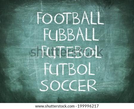 Multi language message of football brazil - stock photo