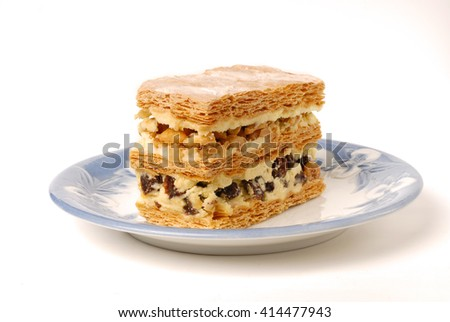 Multi-layer biscuit       - stock photo