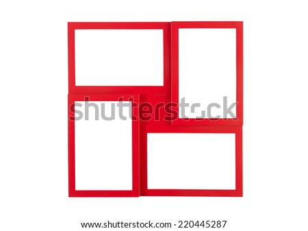 Multi-picture frame - stock photo