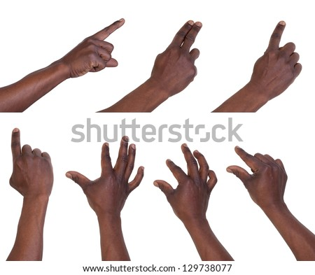Multi-touch gestures for tablets or smart phone - stock photo