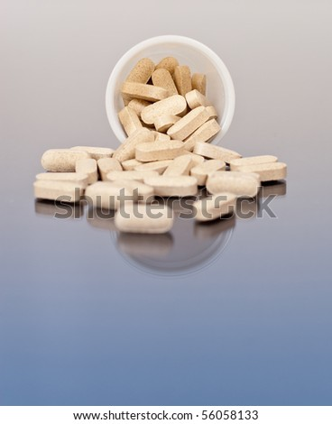 Multi-Vitamins Spilled - stock photo