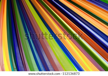 Multi vivid color fabric - stock photo