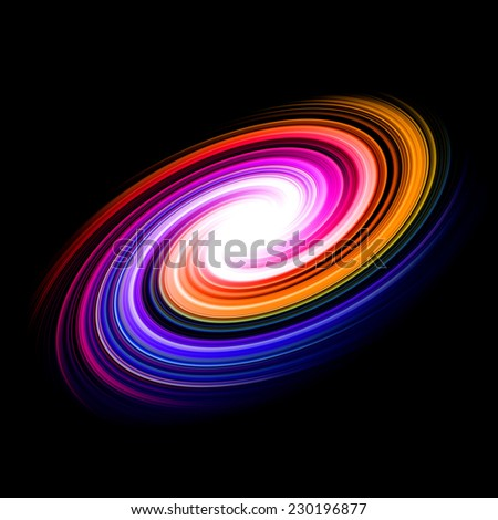 multicolor abstract spiral background with bright center for brochure, book cover or web design - stock photo