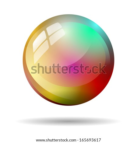 multicolor ball isolated - stock photo
