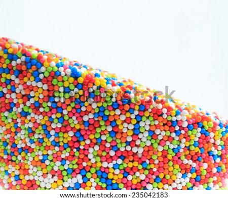 multicolor balls on white background - stock photo
