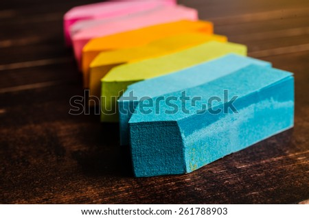 multicolor block of post it note - stock photo