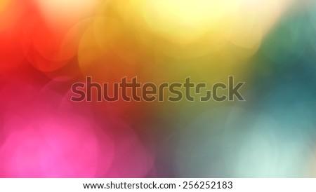 Multicolor bokeh background - stock photo