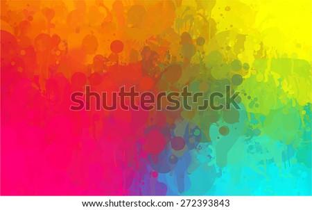 Multicolor brush strokes background. Raster version - stock photo