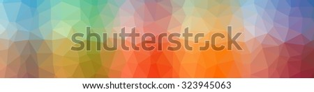 Multicolor gradient geometric pattern. Triangles background. Polygonal raster abstract background image for websites and designs - stock photo