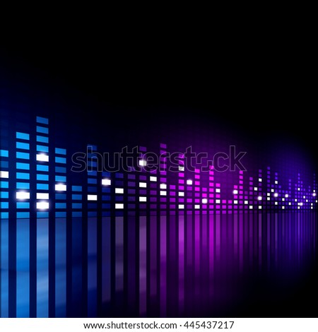 multicolor music equalizer background for active events - stock photo