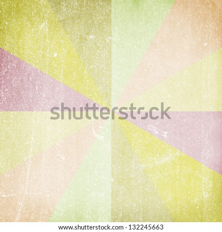 Multicolor Sunbeams. Grunge background - stock photo