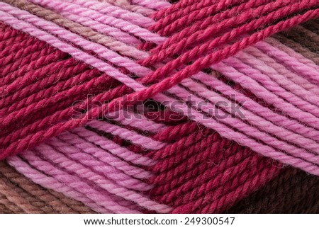 Multicolor wool yarn close up background texture - stock photo