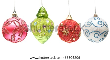 Multicolor xmas spheres - stock photo