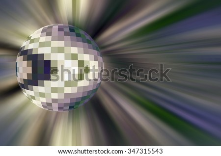 Multicolored abstract of an imaginary multifaceted world in universal flux, like a planet with a mosaic of climate zones, or a geometric pattern of colonization, near an energy field - stock photo
