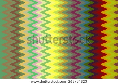 Multicolored abstract of squiggly sine waves in a decorative geometric pattern - stock photo
