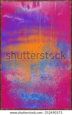 Multicolored Abstract Texture with Rusty Seams Along Edges (Part of Vibrant Metal Textures set, which includes 12 textures that fit together perfectly to form a huge image. No noise, even lighting) - stock photo