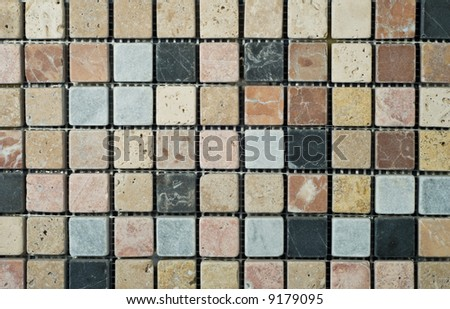 multicolored background from mosaic - stock photo