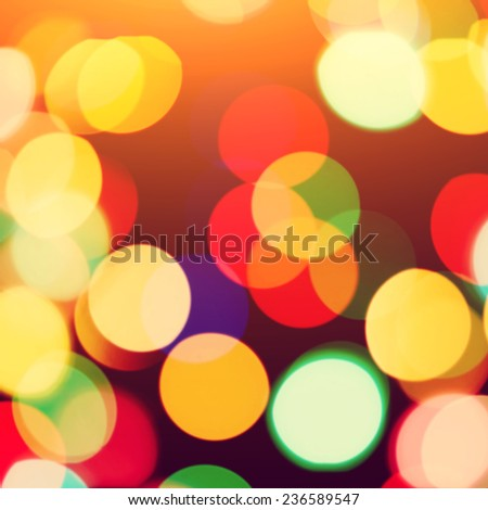 multicolored blurred christmas lights. vintage colorful background bokeh - stock photo