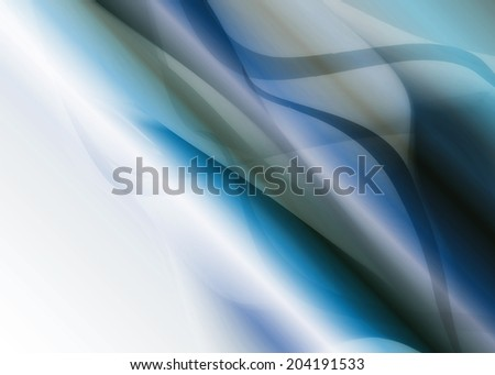multicolored bright abstract background with waves with metallic shine blue - stock photo